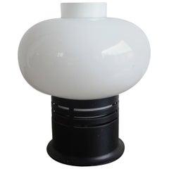 Petite modernist Bakelite and opaline lamp att Stilnovo - Ipso Facto