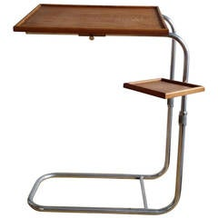L'adaptable two tiered adjustable table - France 1950's - Ipso Facto