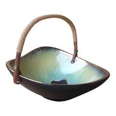 Petite Elchinger glazed china fruit basket - France 1960's - Ipso Facto