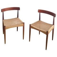 Pair of Signed Danish MK Chairs, Denmark, 1960s