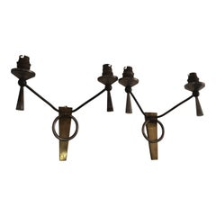Pair of sconces in the style of Adnet by Lunel - France 1960's - Ipso facto