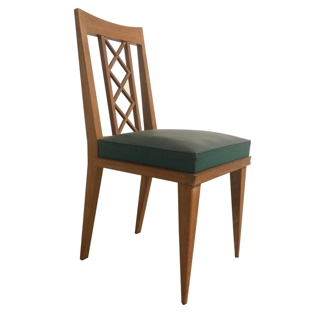 Elegant single oak 1950 39 s french chair in the style of for 1950s chair styles