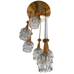 """Exceptional Jean Gandelin """"Chute"""" Flush Mounts or Chandeliers Ipso Facto"""