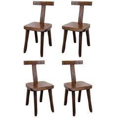 Suite of 4 teak Olavi Hanninen chairs - Finland 1959 ipso facto