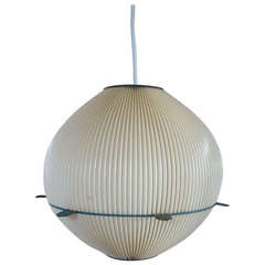 Rispal rhodoid shade with metal structure - France 1950s - Ipso Facto