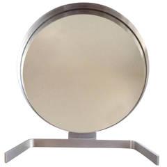 Large 1970s Vanity Mirror in Stainless Steel, France, 1970