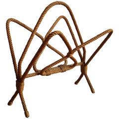 Audoux Minnet Rope Magazine Rack - Ipso Facto