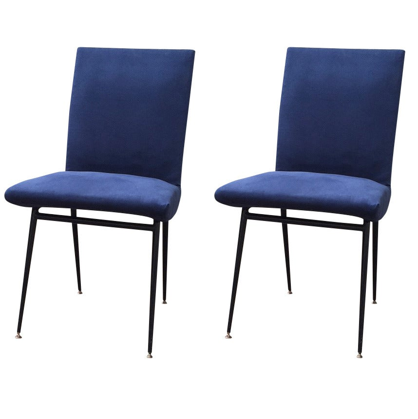 Pair of french 1960 39 s chairs in the style of pierre paulin for Sixties style chairs