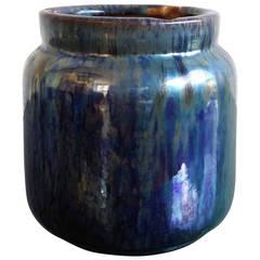Elegant former tobacco pot in glazed terracota - France 1960's - Ipso Facto