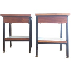 Pair Of 1960's French Night Stands In The Style Of Alain Richard - Ipso Facto