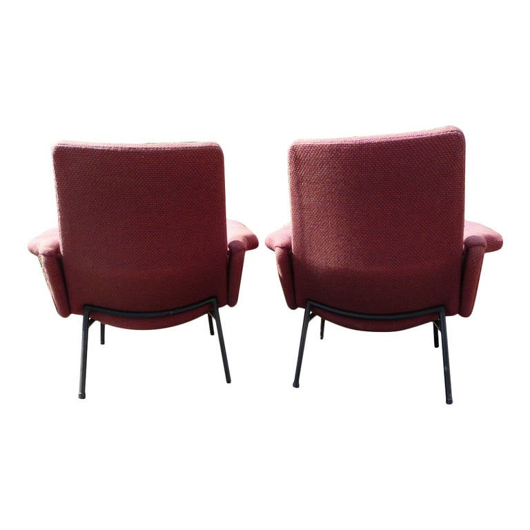 pair of sk660 pierre guariche for steiner chairs france. Black Bedroom Furniture Sets. Home Design Ideas