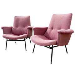 Pair of SK660 Pierre Guariche for Steiner Chairs, France, 1953