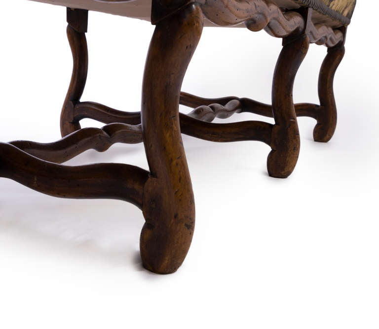 Wood Louis XIII French Sofa with Mouton Legs and Winged Sides For Sale