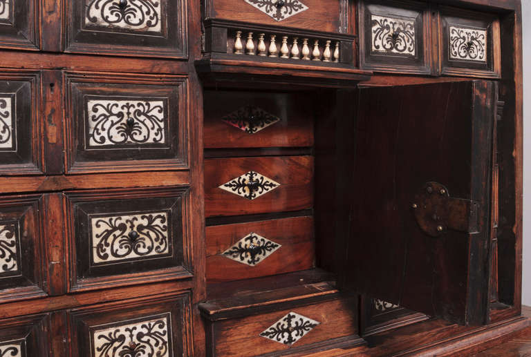 19th Century Italian Cabinet with Ivory Inlaid In Good Condition For Sale In Nashville, TN