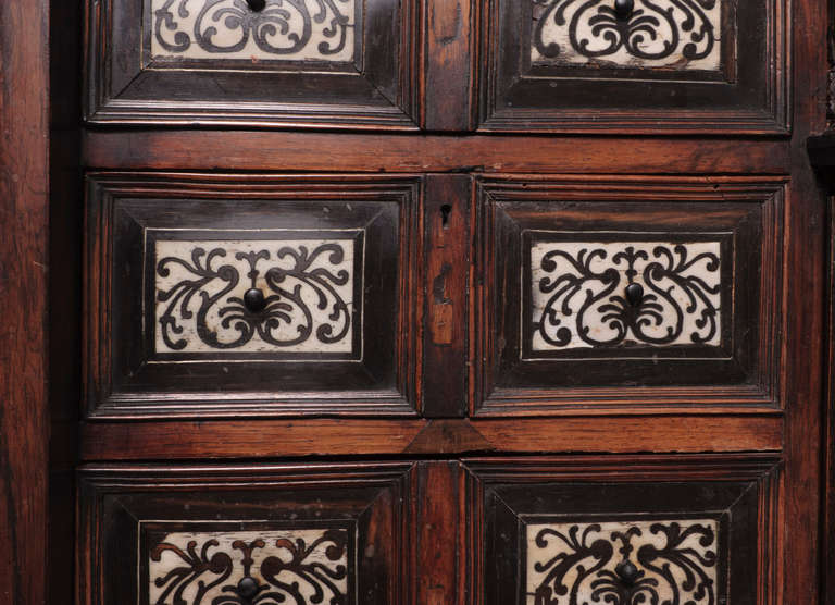 19th Century Italian Cabinet with Ivory Inlaid For Sale 3