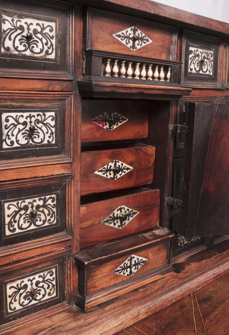 19th Century Italian Cabinet with Ivory Inlaid For Sale 4