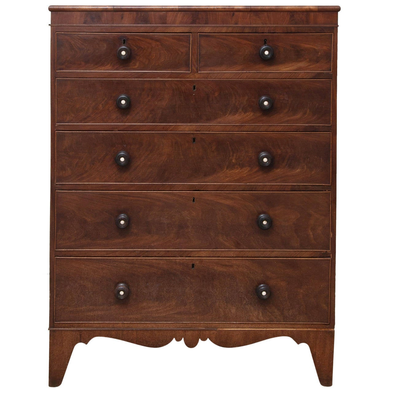 Antique American Tall Chest Of Drawers At 1stdibs