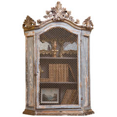 French Antique Wall Cabinet with Single Door