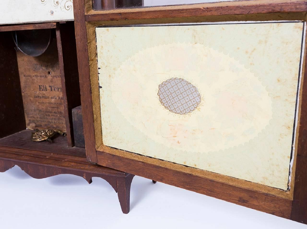Eli Terry Pillar And Scroll Mahogany Mantel Clock At 1stdibs
