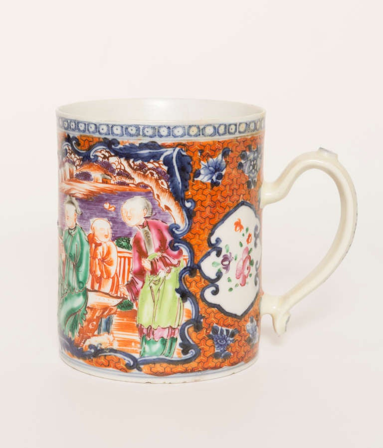 18th Century Chinese Export Porcelain Mug In Good Condition For Sale In Nashville, TN