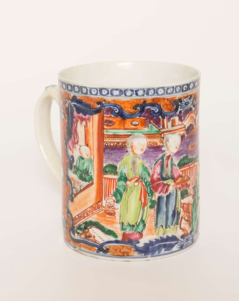 18th Century Chinese Export Porcelain Mug For Sale 1
