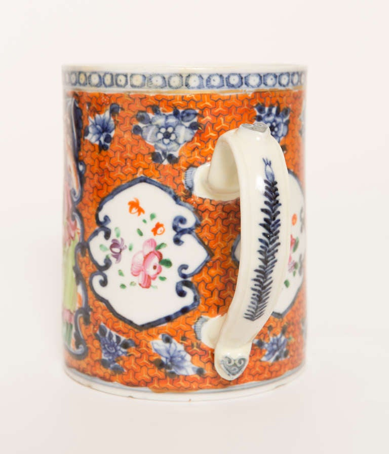18th Century Chinese Export Porcelain Mug For Sale 2