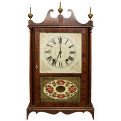 Eli Terry Pillar and Scroll Mahogany Mantel Clock