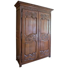 French Oak Armoire, Normandy