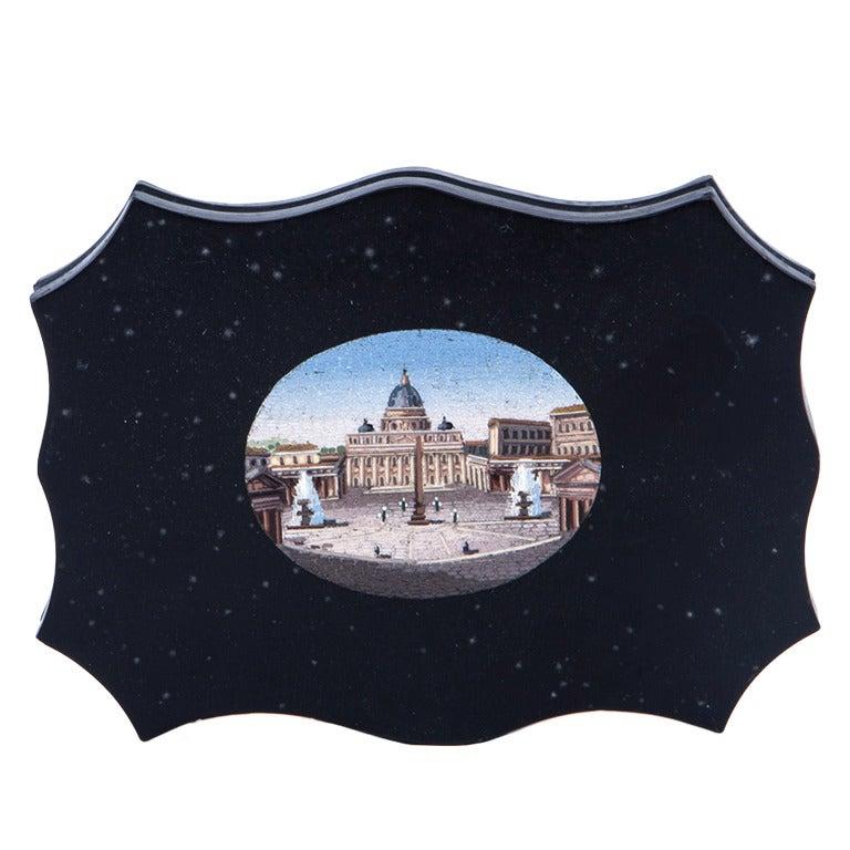 19th Century Italian Grand Tour Micro Mosaic Plaque