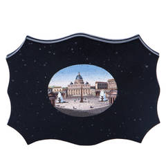 19th Century Italian Grand Tour Micro Mosaic Plaque