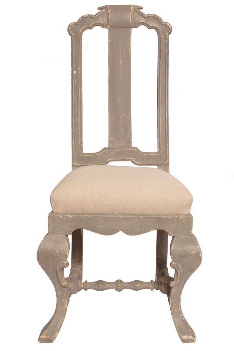 Set of 12 Swedish painted Dining Chairs at 1stdibs