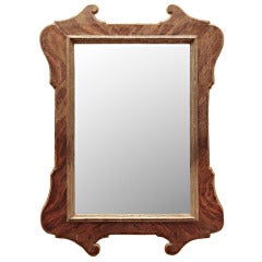 19th Century Italian Tuscan Mirror Faux Marble Painted Frame
