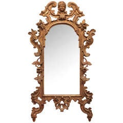 18th Century Italian Gilt Carved Wood Mirror