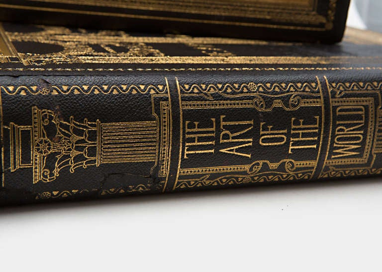 19th Century Art of the World Columbian Exposition Books, Two Volumes In Excellent Condition For Sale In Nashville, TN