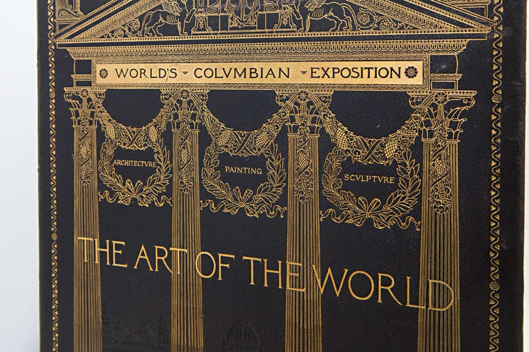 American 19th Century Art of the World Columbian Exposition Books, Two Volumes For Sale