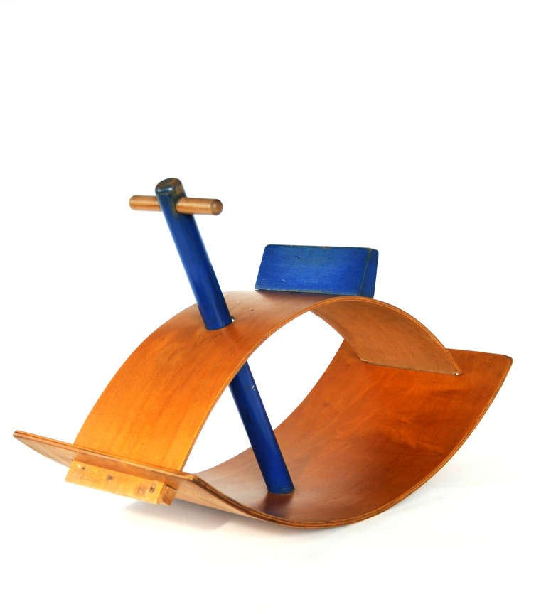 Creative Playthings Blue Rocker by Gloria Caranica at 1stdibs