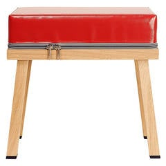 Visser and Meijwaard Truecolors Stool in PVC Cloth with Zipper Detail