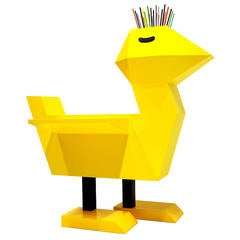 Limited Edition Yellow Double Wing Chicken Desk by Guillamit
