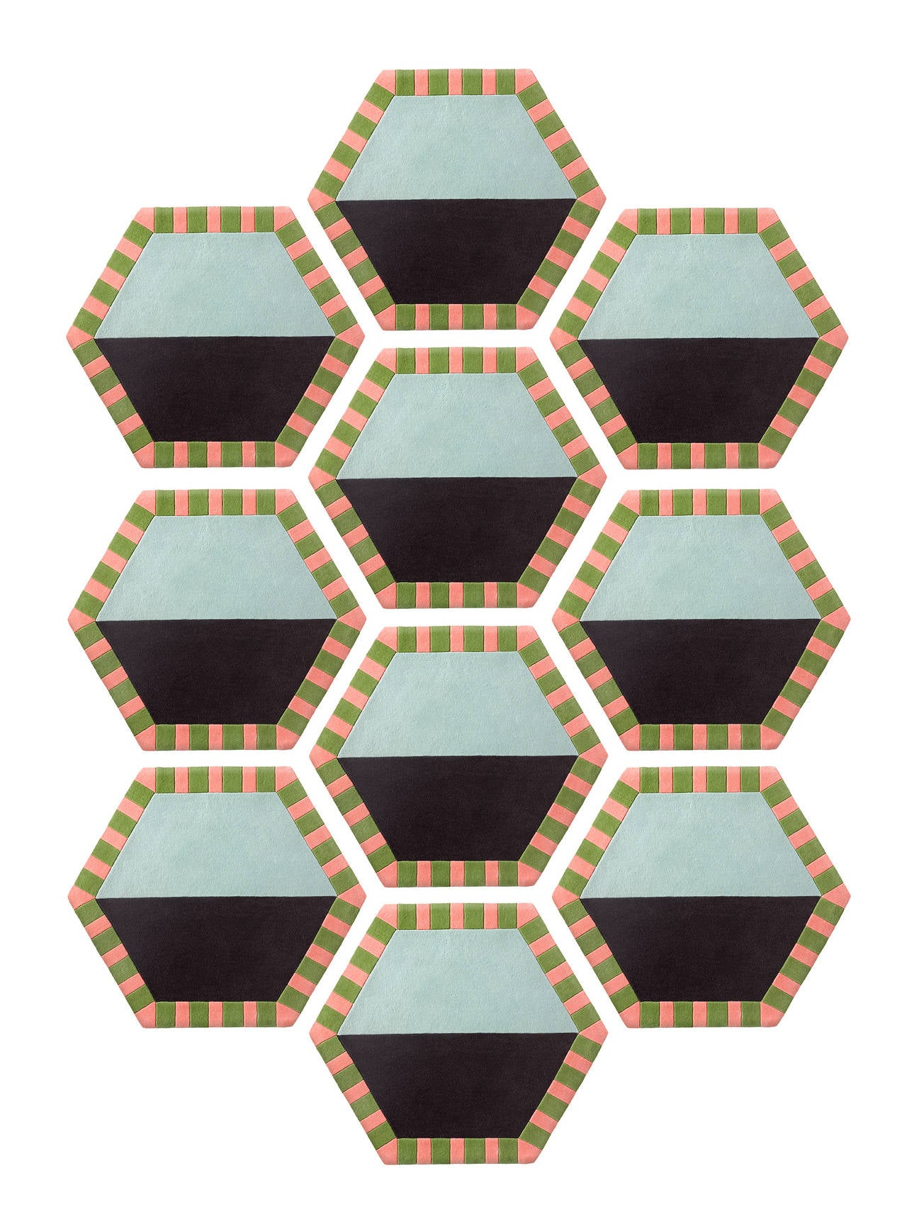 Kinder Modern Extended Honeycomb Modular Hexagon Rug In