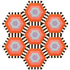 Kinder MODERN Honeycomb Swizzle Rug in 100% New Zealand Wool