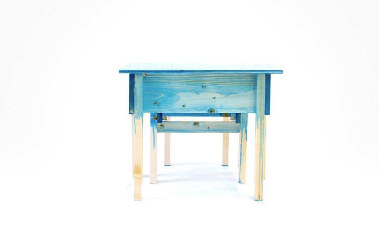 Child Desk Set by Lucas Maassen & Sons in Hand-Painted Pine Wood 5