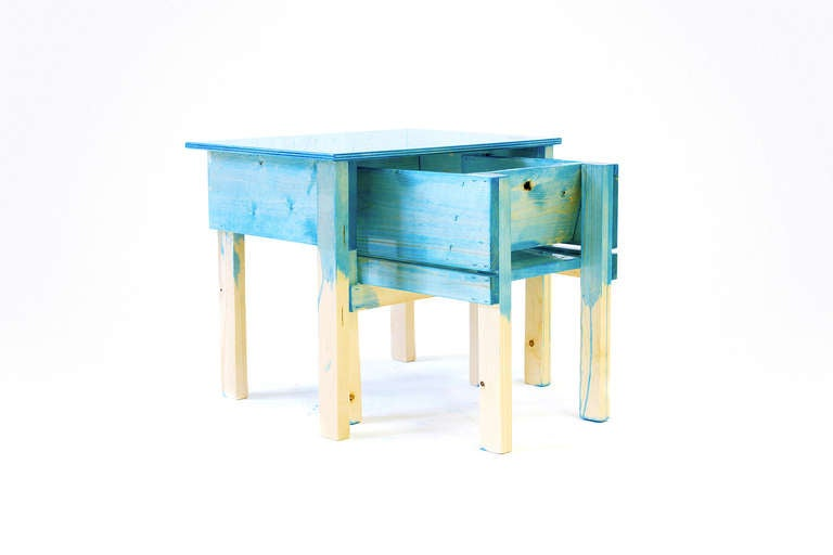 Child Desk Set by Lucas Maassen & Sons in Hand-Painted Pine Wood 4