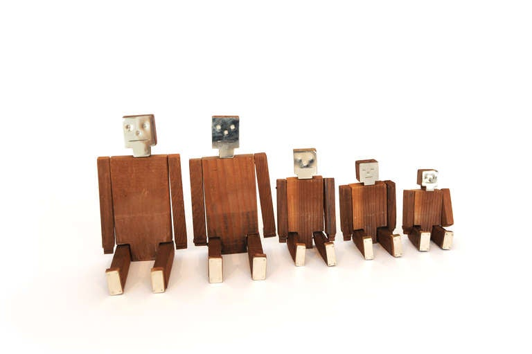 Set of Wood and Nickel Jig Dolls 2
