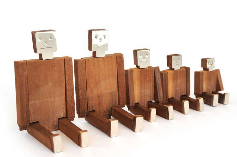 Set of Wood and Nickel Jig Dolls 3