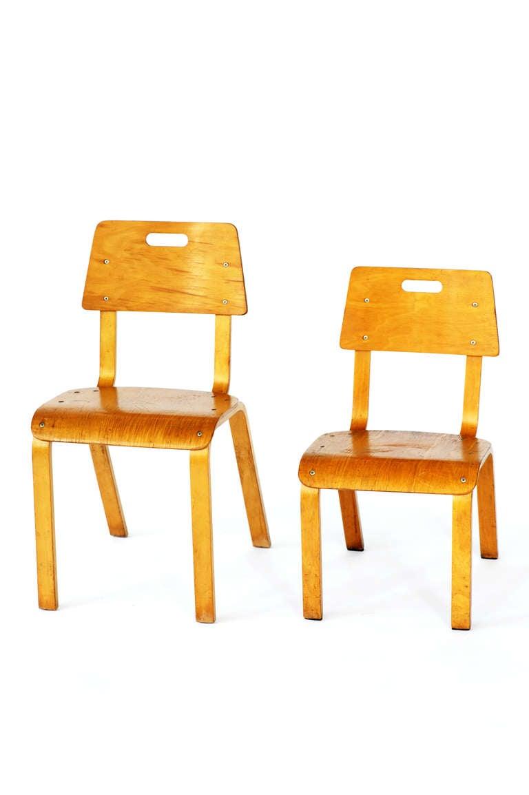 Thonet Bent Plywood Childrenu0027s Chairs 1