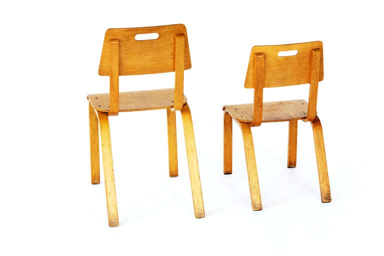 Thonet Bent Plywood Childrenu0027s Chairs For Sale 1