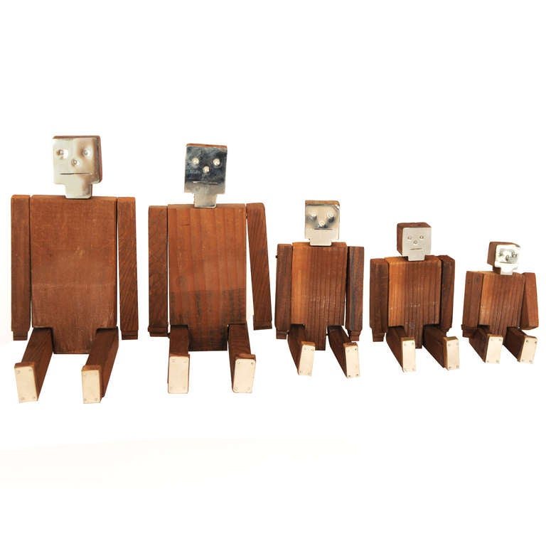 Set of Wood and Nickel Jig Dolls 1