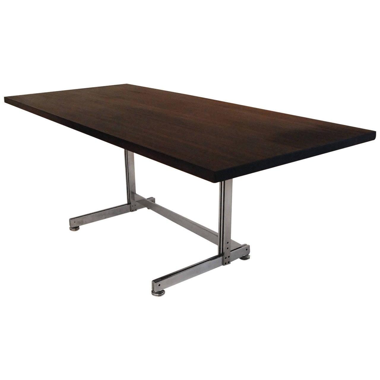 jules wabbes desk solid wenge top for sale at 1stdibs. Black Bedroom Furniture Sets. Home Design Ideas