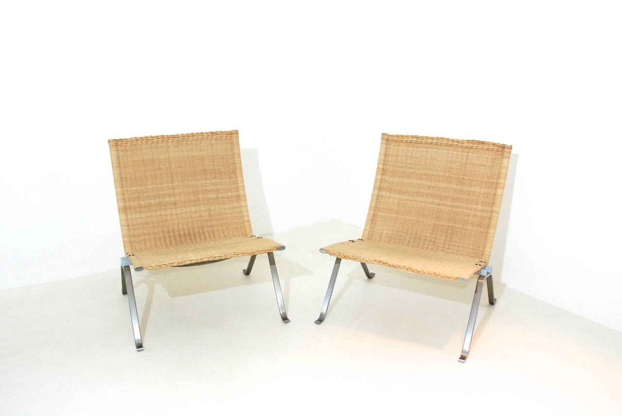 Poul Kjaerholm PK22 Chairs At 1stdibs