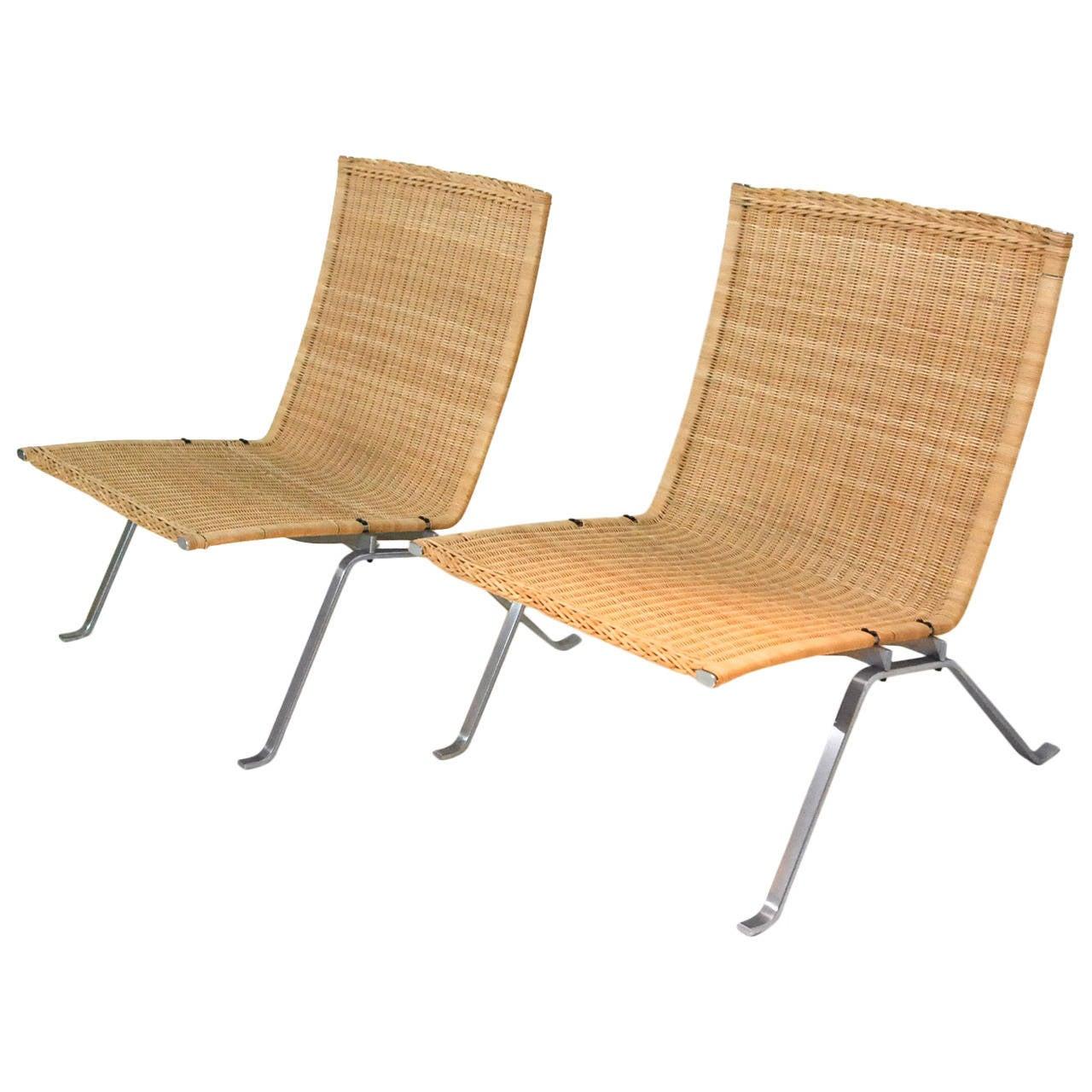 Poul Kjaerholm Pk22 Chairs At 1stdibs